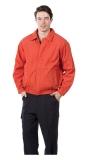 橘色休閒夾克 (內層鋪棉)