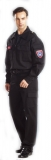 黑色萊卡彈性工作服 (未含印刷字體、配件)